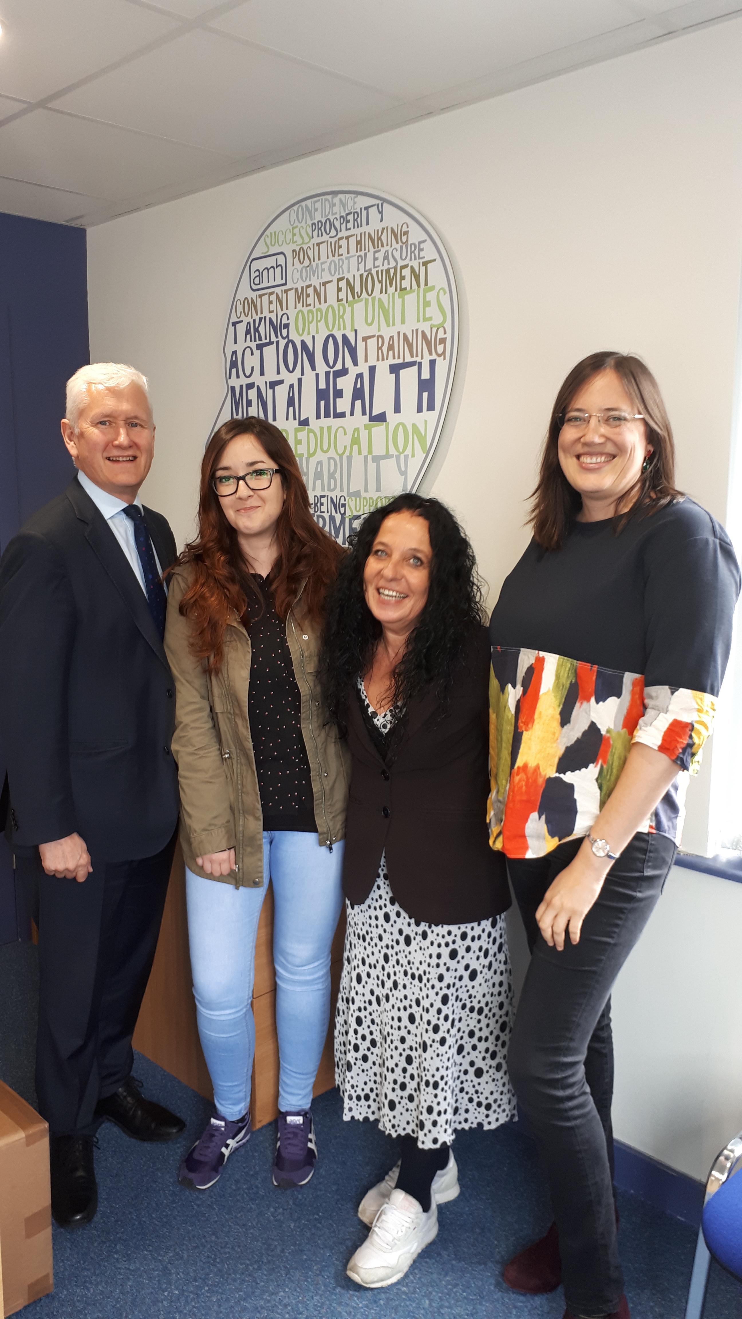 David Babington (Chief Executive, AMH), Terry Amorese (ESR, UVA), Anna Esposito (Prof., UVA), Zoraida Callejas (Prof., UGR)